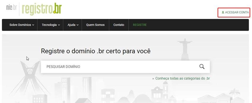 1º Passo: registrar seu ID no site do registro .br
