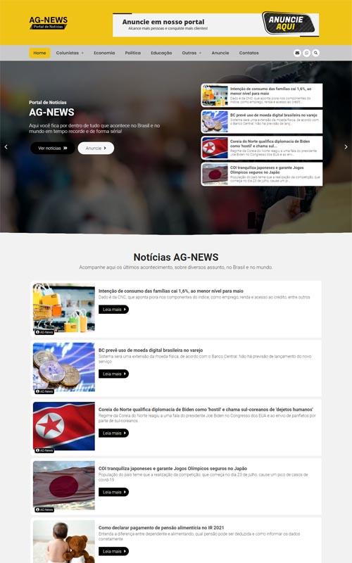 AG-News - Site com blog de notícias.