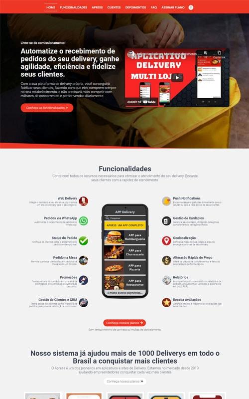 Apress - Modelo de página de vendas para vender aplicativo e software