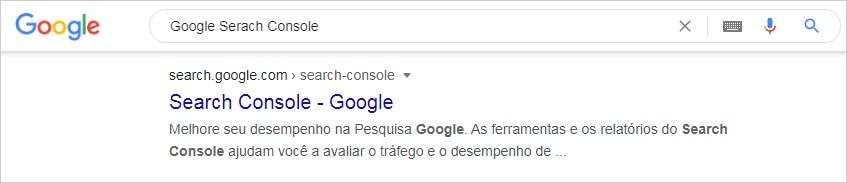Como acessar o Google search Console