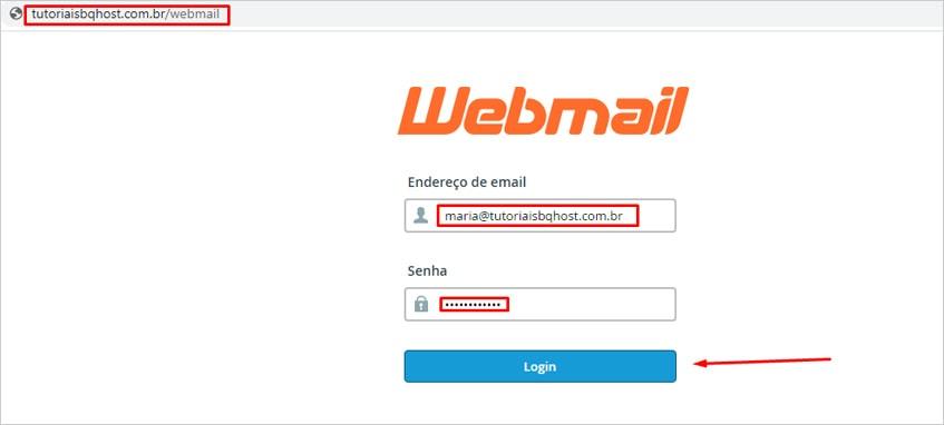 Como acessar o webmail