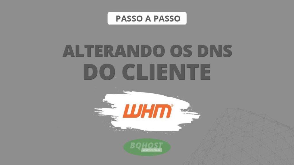 Como alterar os DNS do cliente após abertura do plano no WHM