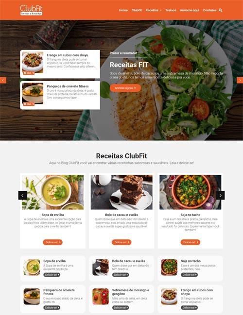 Criação de sites com modelos padrão e com conteúdo incluído