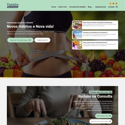 Crie um site para nutricionista com o modelo Natália. É fácil, rápido e custa apenas R$57mês
