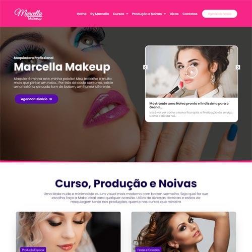 Crie um site para você maquiador, com o modelo Marcella e exiba fotos e vídeos do seu trabalhos