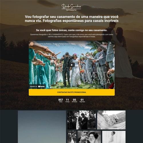 Crie uma landing page de alta conversão com o modelo Duda Sanches