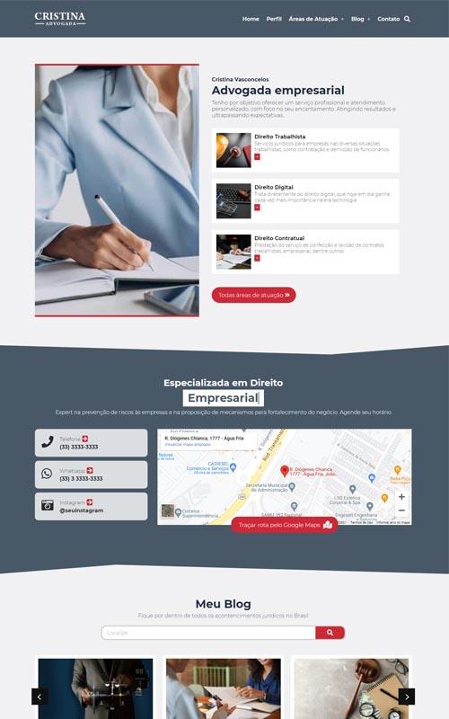 Cristina - Site jurídico para advogados autônomos e escritório de advocacia