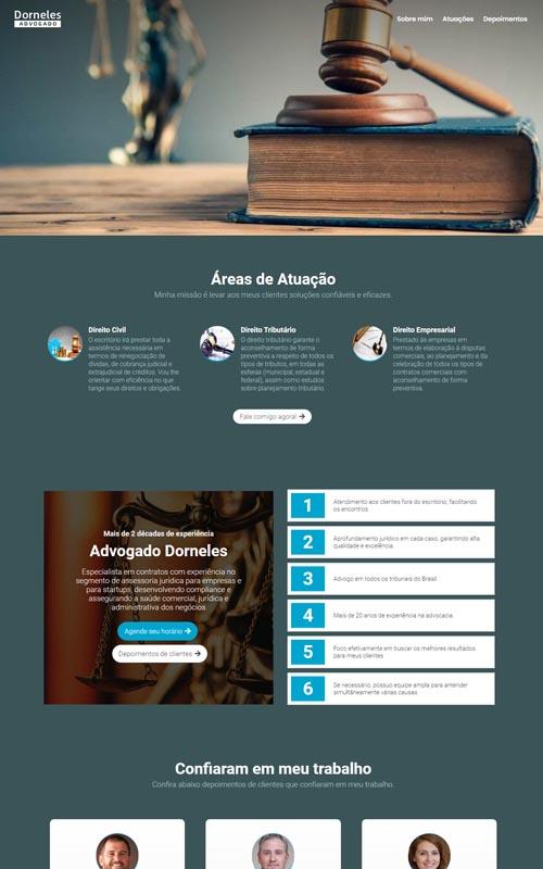 Dorneles - Site para advogados e escritório de advocacia