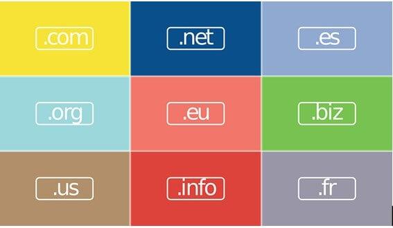 Extensões de Registro de nome para site