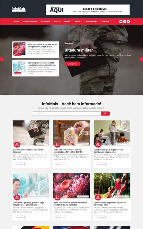 InfoMais - Site de Portal de notícias