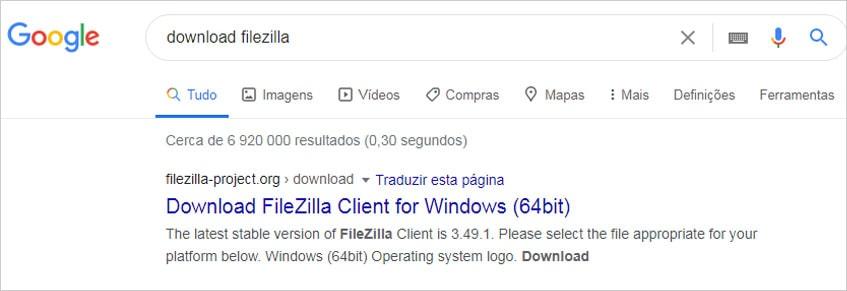 Instalando o FileZilla