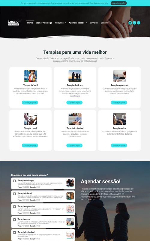Leonor - Site para psicólogos e consultórios de psicoterapia, psicologia ou terapias