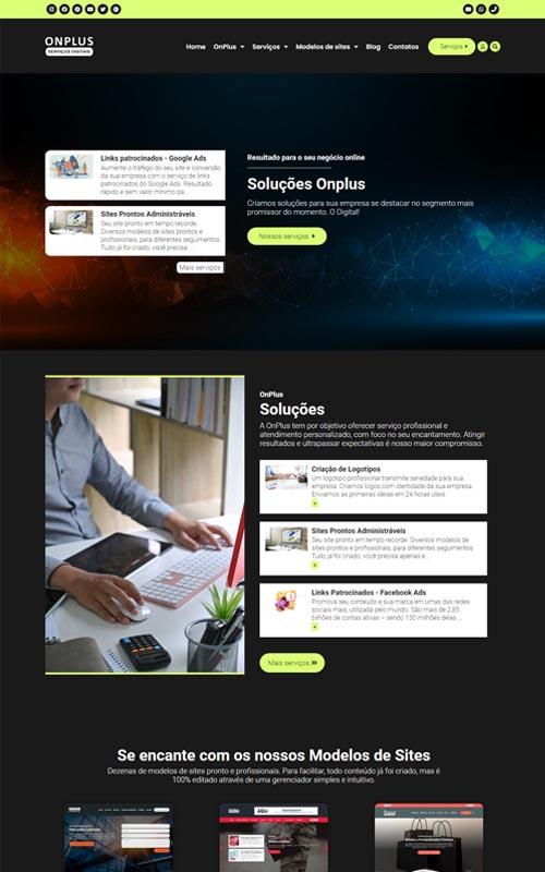 Onplus - Site para agências digitais, webdesigner, desenvolvedores, empresas de publicidade, comunicação e marketing online