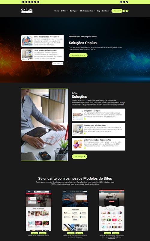 Onplus - Modelo de site para agências digitais
