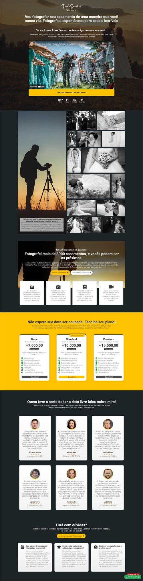 Página inicial Duda - Modelo de landing page para vender serviços, planos, produtos e cursos