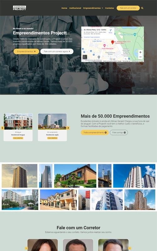 Projectt - Site para Construtoras e Incorporadoras