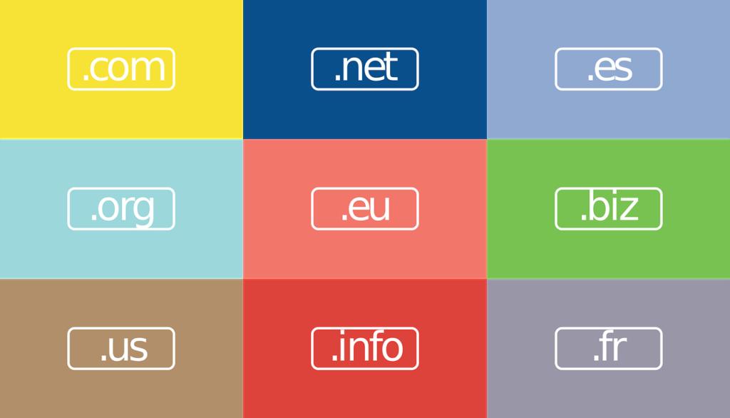 Registro de domíno internacional com, .net, info, .gov