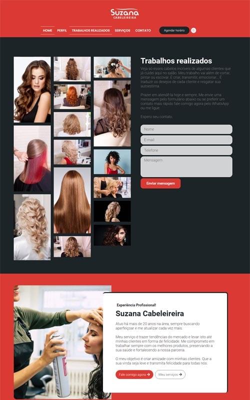 Suzana - Site para cabeleireiros, depiladores, manicures, pedicures, barbeiros, salão de beleza e barbearias