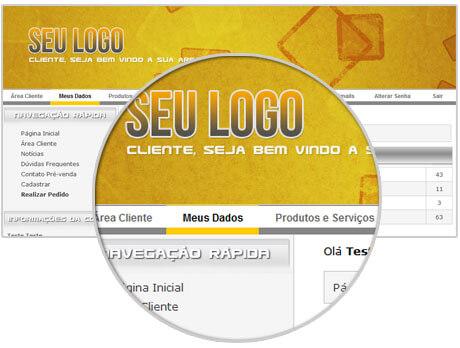 Tela da área cliente do BQHost Control - Gerenciador financeiro para empresas de WebHost, agências e Freelancers