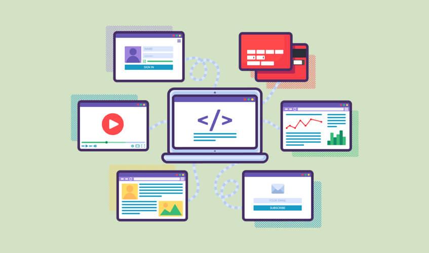 Tipos de sites existentes no mercado