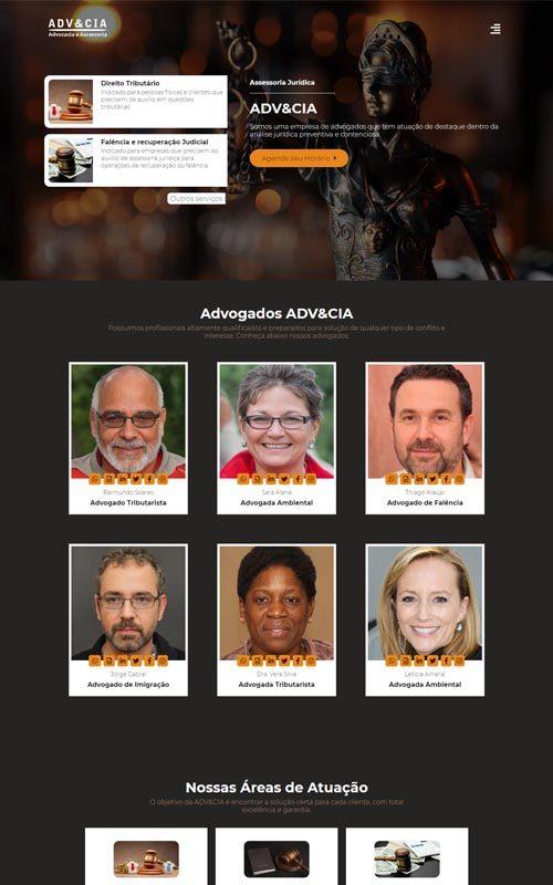 ADV&CIA - Site para empresas de consultoria jurídica, advogados e escritório de advocacia