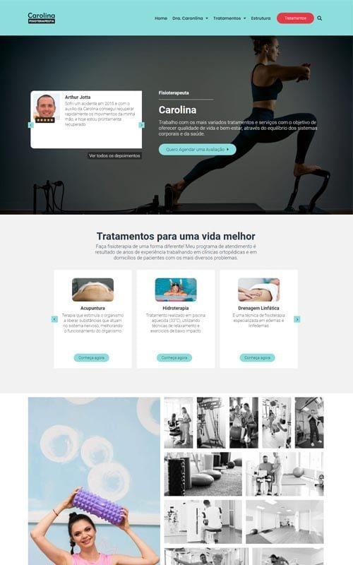Carolina - Site para fisioterapeutas, clínicas de fisioterapia e studios de pilates