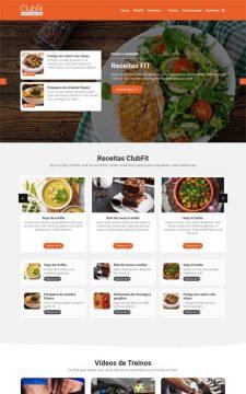 ClubFit - Site com blog de receitas de comidas fitness, culinária ou gastronomia.
