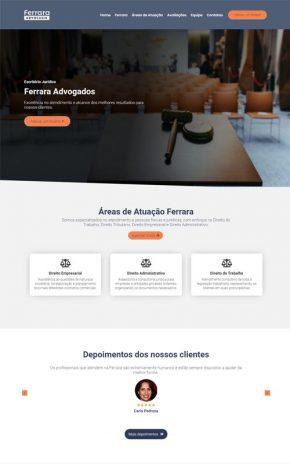 Ferrara - Site para escritório de advocacia e advogados associados
