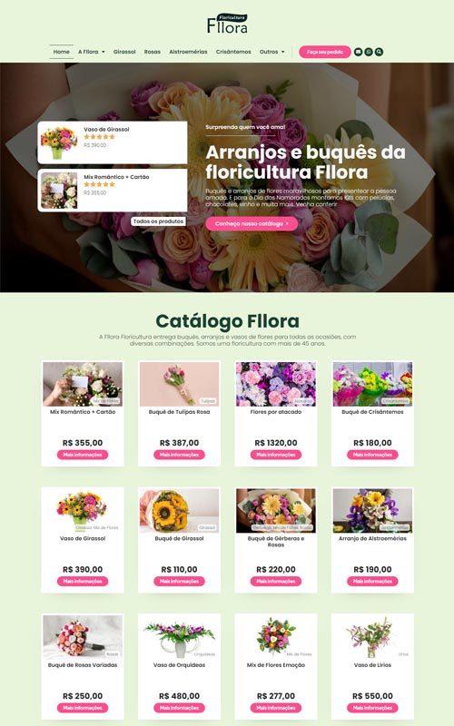 Fllora- Site para floricultura, empresas de flor e produtores de flores