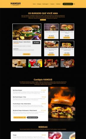 HANGUS - Site para Hamburguerias, Pizzarias, Food Trucks, e Hot Dogs