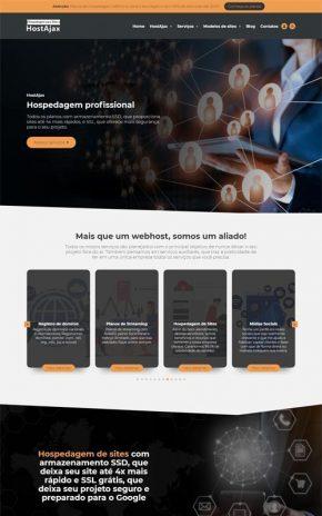 HostAjax - Site para empresas de hospedagem de sites e agências de marketing digital