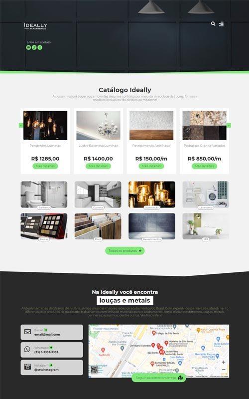 Ideally - Site para empresa de materiais de construção e acabamentos