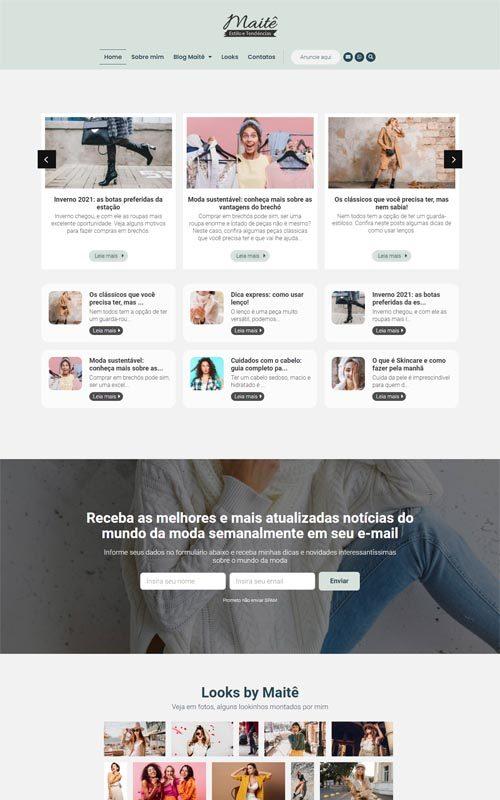 Maitê - Site com blog de moda feminina