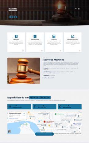 Martines - Site para escritório de advogados associados, empresa de advocacia e advogados autônomos