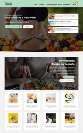 Natália - Site para Nutricionistas e Clínica ou Consultório de Nutrição
