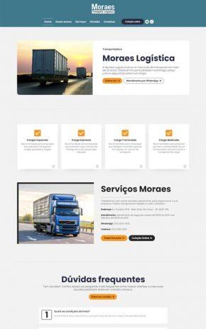 Moraes - Site para empresas de logística, entregas e transportes de cargas.