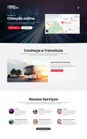 TransGuia - Site para empresas de viagens, excursões, passeios turísticos e transporte de pessoas.
