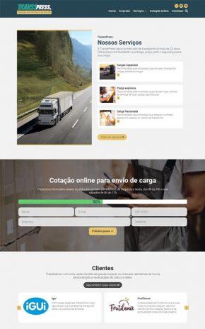 TranssPress Modelo de site para empresa de transporte